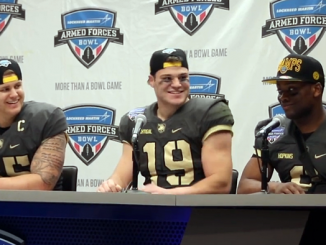 Army players armed forces bowl postgame