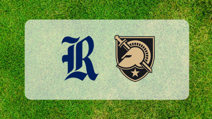 Army and Rice logos on grass