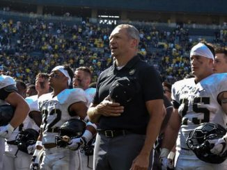 Jeff Monken and team. (U.S. Army Photo)