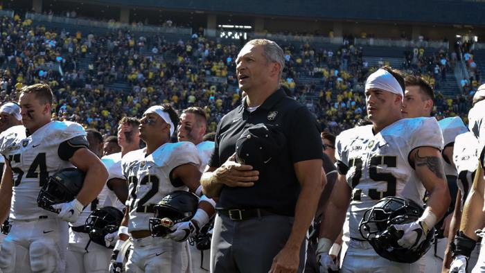 Jeff Monken and Army Team-Michigan-USMA Photo