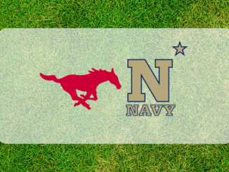 SMU and Navy logos