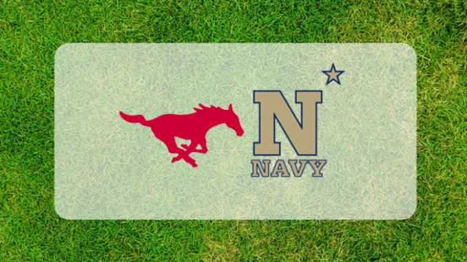 SMU and Navy logos