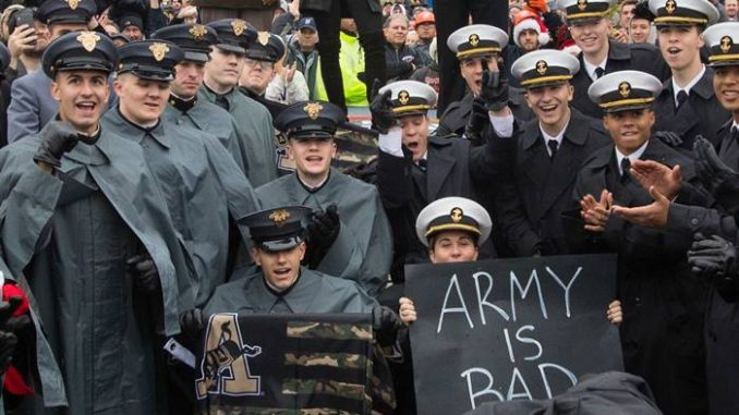 Army cadets and Navy midshipmen